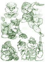 The SHC Crew Sketches by MyFantasiWorld