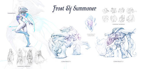 Frost Elf Summoner by DanMaynard