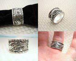 Wind Dragon in Silver by Cloud-Dragonz