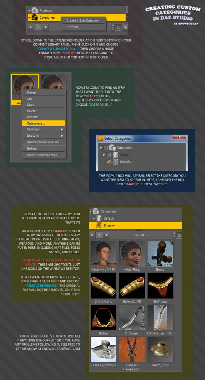 Creating Categories in DAZ Studio by SnowSultan