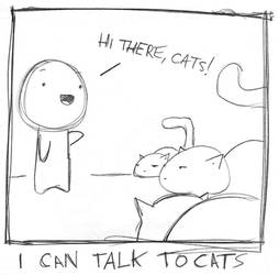 i can talk to cats by boobookittyfuck