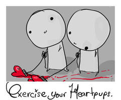 exercise your heartpups. by boobookittyfuck