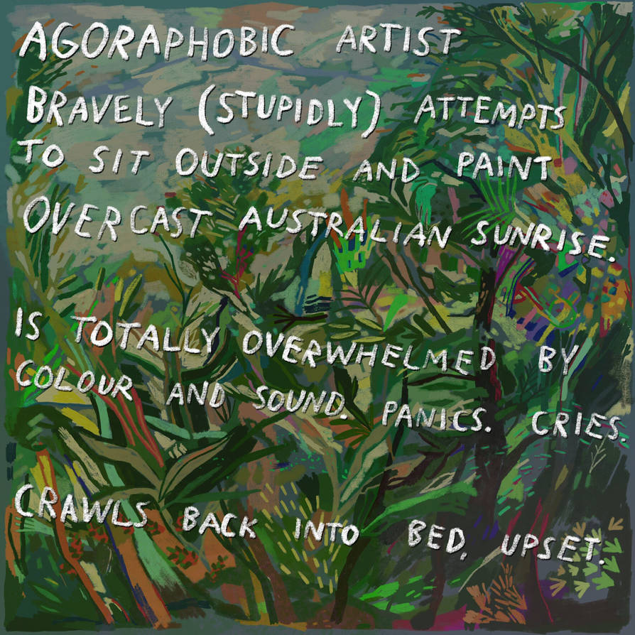 Agoraphobic Artist  by boobookittyfuck