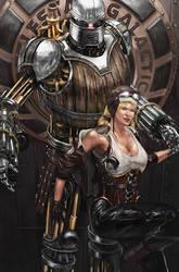 Steampunk Cylon+ Viper Pilot by R-Tan