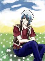 Kiryu Kyosuke with blue sky by Risa-miao