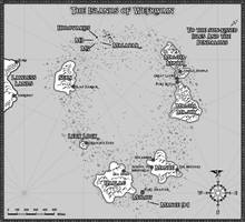 Wefrivain Map - The Guild of the Cowry Catchers by jeffmcdowalldesign