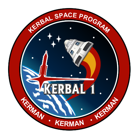 Kerbal I Mission Patch Logo By Jeffmcdowalldesign
