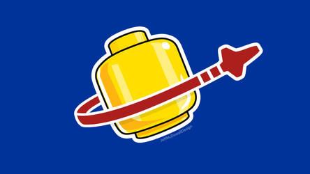 Legohead Space Logo by jeffmcdowalldesign