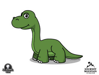 Lil' Apatosaurus by jeffmcdowalldesign