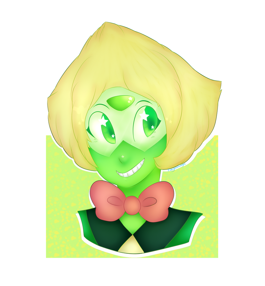 Hai guys! Today I decided to do a picture of Peridot with the bowtie she wore in the episode Beta!