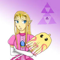 Zelda in Peach's outfit by chocolapeanut