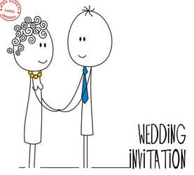 wedding invitation by asiaq
