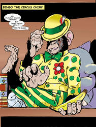 Bingo the Circus Chimp by EdGarcia