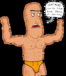 A Lazy Strongman by Vigorousjammer