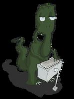 An Alien Named Paul, Typing by Vigorousjammer
