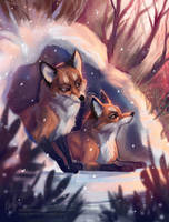 Foxies by Zora-Iish