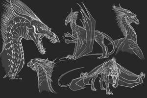 Great Dragons of K'Aaran - concept 01 by DraconianArtLine