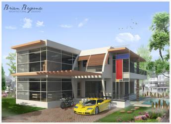 modern house by brianbayona
