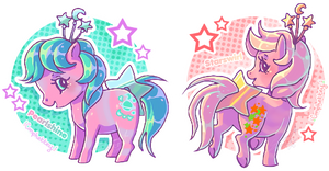 alien ponies by Conphettey