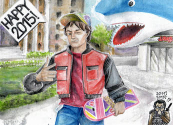 Happy 2015- Marty McFly by C0y0te7