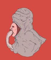 Throat Monster by TheKidIsGreen
