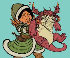 Yasova Dragonclaw and Atarka by TheKidIsGreen