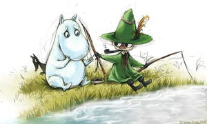 Fish with me, Moomin by CatusSnake