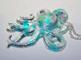 Octopus Resin Pendant by AknieGirl