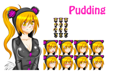 Pudding character and faceset by SugarYuyu