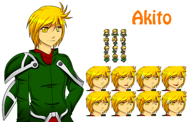 Akito character and faceset by SugarYuyu