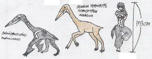 flightless pterosaur concept by Fingertier