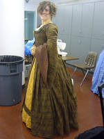 Tudor Dress Side View by tazzasister