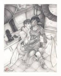 Commission - Amara and Beta by fongmingyun