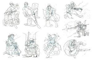 Commission - Nadda Sketches 02 by fongmingyun