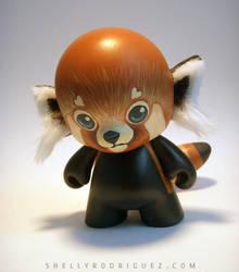Red Panda Mini Munny Custom by inki-drop