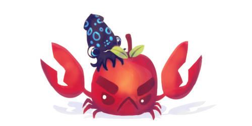 Crabapple Plush Kickstarter Update Art! by inki-drop