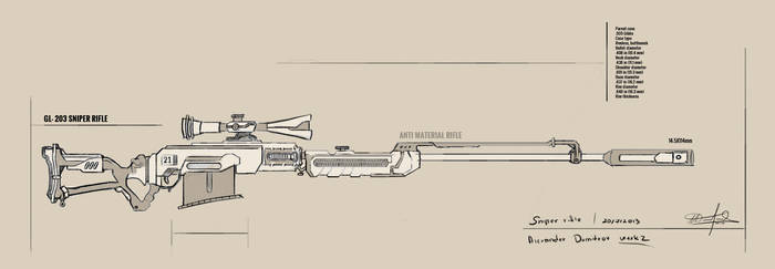 Sniper Rifle Concept by sao96