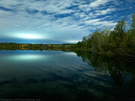 Odd Glow or Reflection off Lake 2 by KBeezie