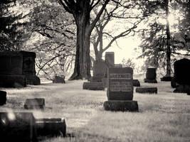Greenwood Cemetery I (930nm IR) by KBeezie