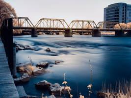05/19/2017 - The Blue Bridge and GVSU by KBeezie