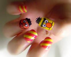 Bert and Ernie by KayleighOC