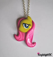 My Little Pony - Fluttershy Necklace by KayleighOC