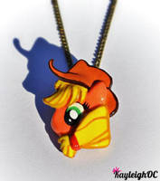 My Little Pony - Applejack Necklace by KayleighOC