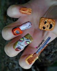Evil Dead Nail Art by KayleighOC