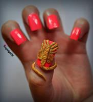 Alien - Facehugger Nail Art by KayleighOC