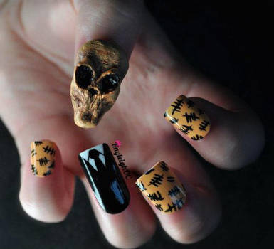 Doctor Who Nail Art - The Silence by KayleighOC
