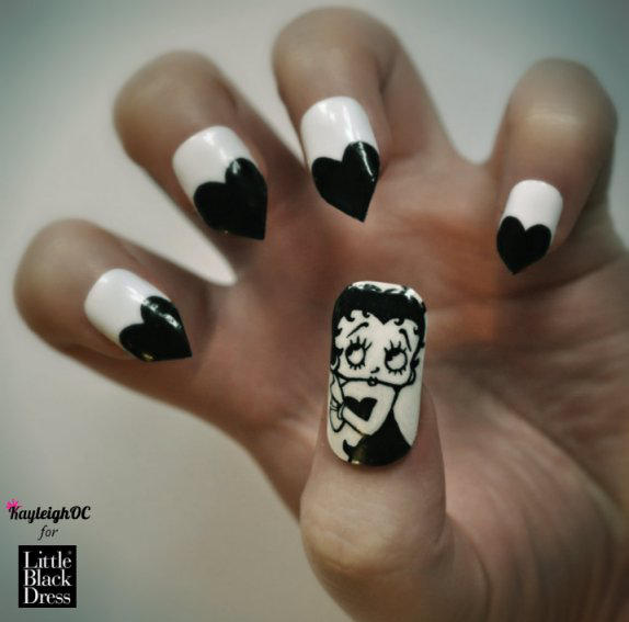 Betty Boop Nails: Betty Boop Nail Art By KayleighOC On DeviantArt