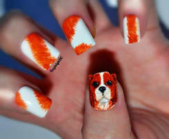 'Bonnie' - Cavalier King Charles Spaniel Nail Art by KayleighOC