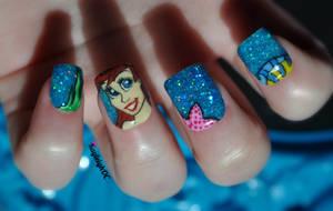 The Little Mermaid Nail Art by KayleighOC