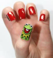 Kermit Nail Art - Take Two by KayleighOC